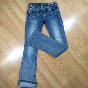 Miss me jeans blue signature boot size 25